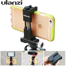Ulanzi Updated Phone Tripod Mount with Hot Shoe working with camera light / microphone for video Universal Stand Clip for iPhone