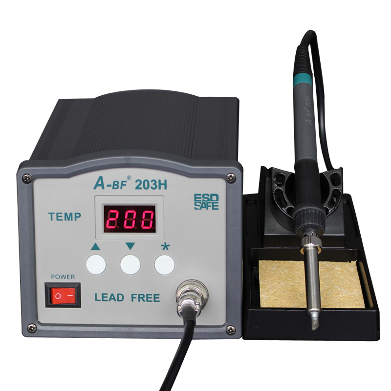 A-BF 203H 220V 90W soldering station digital display soldering iron station DIY Auto Sleep  High frequency iron thermostat<br><br>Aliexpress