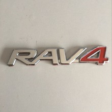 ABS Chrome for Toyota RAV4 logo Trunk Lid Emblem Badge Sticker Logo Decal Nameplate car styling