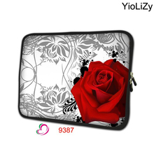 rose print soft Ultrabook cover notebook sleeve mini tablet case 7 7.9 laptop protective skin for ipad 4 case TB-9387(China)