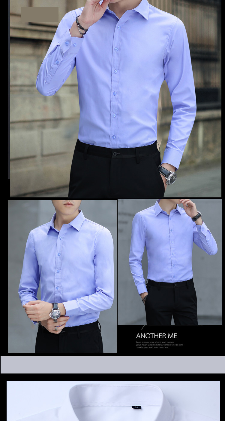 Brand New Cotton Breathable Business Casual shirts Fashion Short Sleeve Male Tops Tee Fashion Stand Down Collar shirt ZT024 25