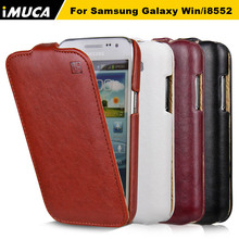 Case for Samsung Galaxy Win i8552 Cover GT i8550 i8558 8552 luxury flip leather case cover imuca brand mobile phone cases shell(China)