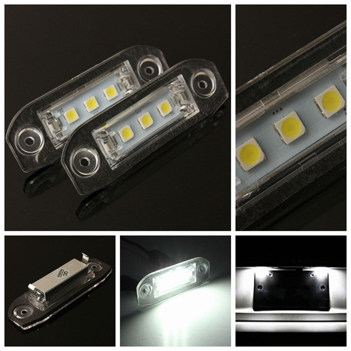 Audew  2x 3LED White Number License Plate Light Lamp For Volvo S80 S60 C70 V70 E-marked<br><br>Aliexpress