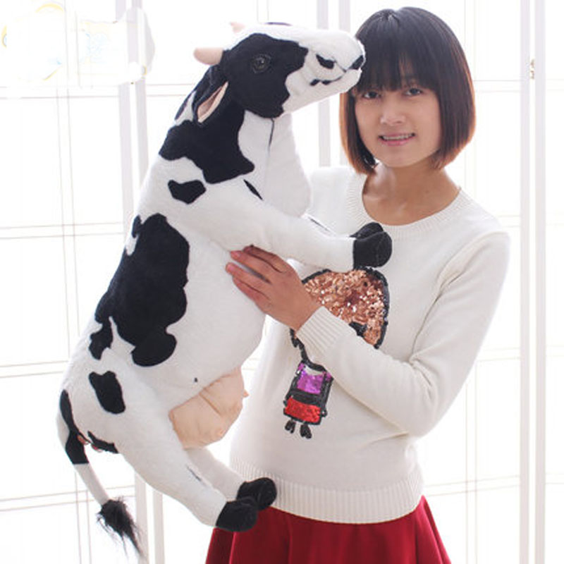 Big size toys 70cm Emulational Milk Cow Toy Plush Soft Stuffed Big Animal Cow Doll Nice Gift and Decoration 28inches<br>
