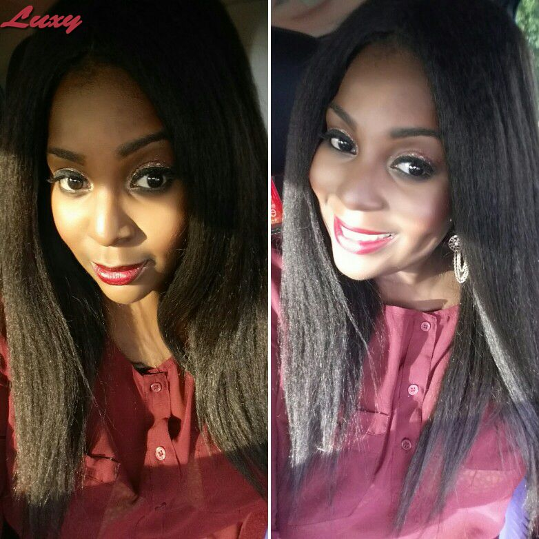 Unprocessed Virgin Brazilian 130%Density Lace Front Wigs Human Hair Off Black Yaki Full lace Wig With Baby Hair<br><br>Aliexpress