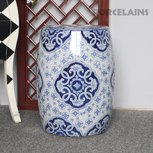 Chinese blue and white Hand Carved porcelain garden stools ceramic