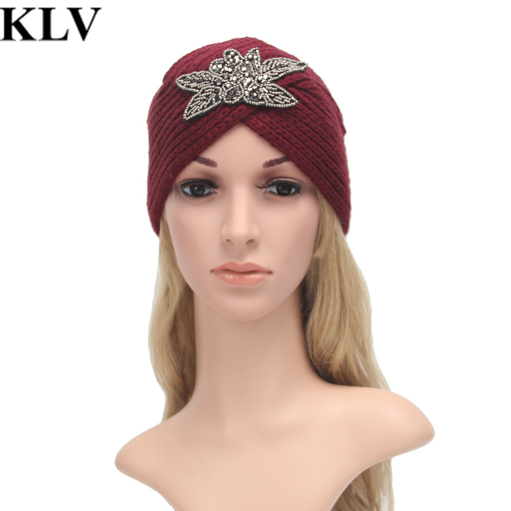 Fashion Women Winter Warm Knit Crochet Ski Hat Braided Turban Headdress Cap New design Knitting Wool Hat For Women Gorros Oct21Îäåæäà è àêñåññóàðû<br><br><br>Aliexpress