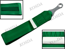 Car Tow Straps Universal Front Tow Hook Strap FIA Approved Track Drifting Black Green(China)