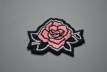 Custom embroidered patch, with over lock edge, with heat transfer glue on, low moq
