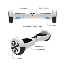 DE Stock Free Shipping White Colors 6.5 Inch Two Wheels Self Balance Hoverboard Electric Scooter With Carry Bag UL Certificated