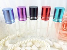 8ml Roller Glass Perfume Bottle Refillable Empty Fragrance Cosmetic Glass Vials Women Makeup Water Packaging 20pcs/lot DC771
