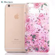 6S for Coque iPhone 7 Case Dynamic Glitter Liquid Fashion Cover for iPhone7 6s 6 Plus Phone Cases Rose Bling Bling Cover Case(China)