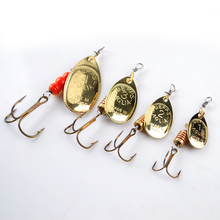 24PCS/Lot Size1-Size4 Fishing Hook Mepps Spinner Fishing Lures Treble Hooks Bulk Fishing Tackle Pesca