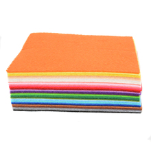 41pcs Colorful Crafts Felt Fabric 1mm Thickness Felt Sheets Rainbow DIY Craft Polyester Wool Blend Fabric Kit(China)