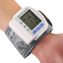 2016 Digital LCD Wrist Blood Pressure Monitor Heart Beat Pressure Monitor Heart Beat Rate Pulse Meter Measure Worldwide sale(China)