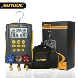 Цифровой манометр AUTOOL LM120 для измерения давления хладагента в системах кондиционирования, аналог Testo