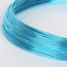 Painted  Soft Aluminum Round Craft Anodized Floristry Metal Wire For DIY Jewelry Bead Findings Making Dia 1/1.5/2/2.5mm