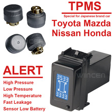 Wireless Tire Pressure Monitoring System TPMS especial para Honda Toyota Mazda Nissan serie con Externall sensores