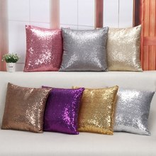 40*40cm Pillowcase Home Sofa Chair Throw Pillows Brocade Almofadas Glitter Sequins Cushion Covers Wedding Gifts Home Decoration(China)