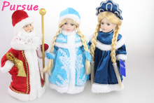 Pursue 30cm Cute Russian Porcelain Doll Girl Lovely Ceramics Russian Girl Princess Baby Victoria Gift for Girl/Child Red Blue