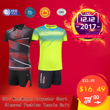 Adsmoney Women/Men Tennis Shirt Suit Badminton Clothing Dress Breathable Sports Shirt Tennis Skirt Shorts Suit(China)