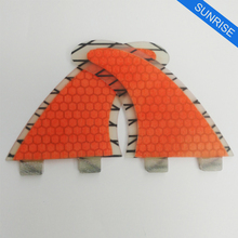 Surfing FCS/FCS2 G5 Fin Quilhas Surfboard Fins Orange Surfing Fins Honeycomb Carbon Fiber
