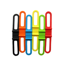 1Pc High Elasticity Silicone Bicycle Strapping Tape Universal Bicycle Torch Stopwatch Tire Air Pump Tool Bag Binding Strap