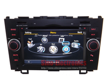 Car DVD GPS for Honda CR-V 2007-2011 Auotradio Head unit with CPU 1GHz/RAM 512MB Bluetooth RDS 3G Dual zone SWC iPod function