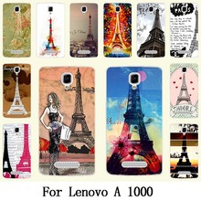 Solf TPU Silicone / Hard Plastic Case For Lenovo A1000 Mobile Phone Cover Bag Cellphone Housing Shell Skin Mask Color Paint