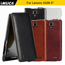 For Lenovo A536 Case Lenovo A536 Cover iMUCA Luxury PU Leather Flip Back Cover Case for Lenovo A536 A358T Mobile Phone Cases(China)