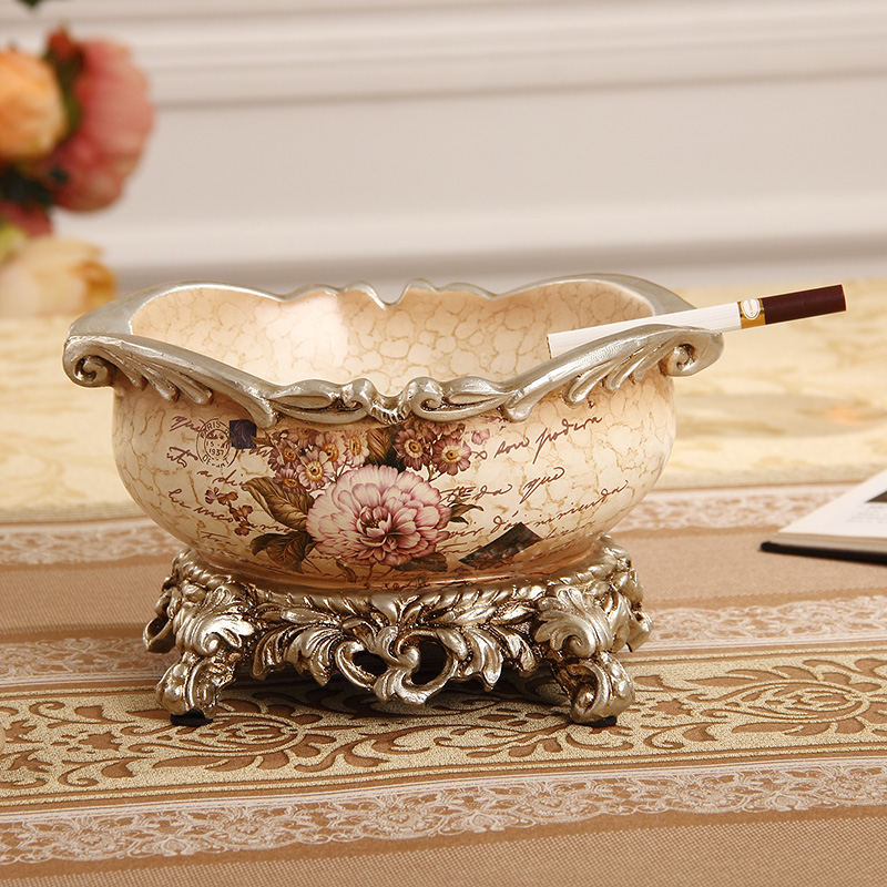 European style resin ashtray for home<br>