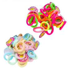 50 Pcs/Lot Hair Ties Candy Color Elastic Ropes Girls' Seamless Hair Strip Kids Hair Accessories tiaras infantis tiara