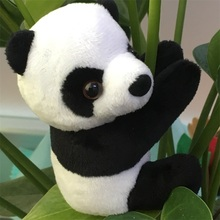 Panda Plush Toys with Clips on Hands Soft Plush Stuffed Animals Kids Toys for Children High Quality Cute Kawaii Panda Toys Gift