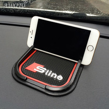 For Audi A1 A3 A4 B5 B6 B8 A5 A7 A6 C5 A8 Q3 Q5 Q7 Accessories Silicone Silica gel car anti slip rubber phone mat GPS holder