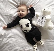 2017 Hot sell Baby Boys Girls Rompers Infant Long sleeve cute panda baby clothes newborn Toddler suit jumpsuit baby clothing(China)