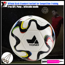 Official Size5 YONO Adult Standard Football for Game Training Soccer Equipment ,Free Gift Pump+Inflatable Needle+mouth