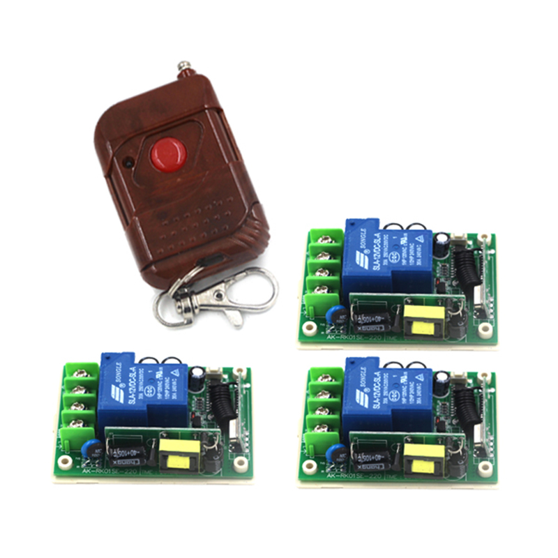 AC85V 110V 220V 250V 1 CH RF wireless remote control switch, wireless remote switch 3 Receiver &amp; 1 transmitter 4145<br>
