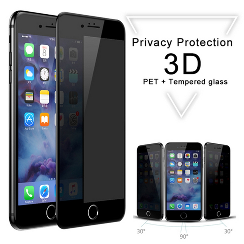 Baseus 3D Soft Edge Tempered Glass Screen Protector iPhone 6 6s Privacy Protection Anti Peeping Glass Film iPhone 7 plus