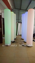 led  inflatable pillar light for party decor