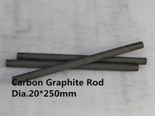 graphite rod dia.20*250mm / crucible for melting gold silver /Carbon rod from battery ,FREE SHIPPING 1piece(China)
