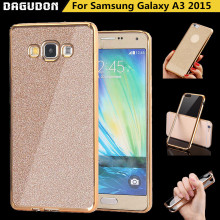 For Samsung A3 2015 Case Powder Plating Bling Glitter TPU Cover Soft Silicone Phone Case For Samsung Galaxy A3 2015 Cases A300F