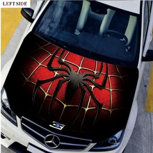 LEFT SIDE Car Stickers HD Many Designs Engine Hood Sticker Cool Spider Styling Decal High Definition Carbon Vinyl Waterproof(China)