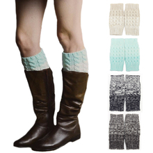 2016 winter women leg warmers snowflake thigh leg knee socks cotton knitting accessories for lady girls winter boots women