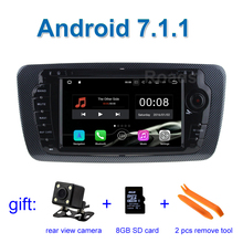 2GB RAM 1024*600 Android 7.1 Car DVD Player GPS for Seat Ibiza 2009 - 2013 with WiFi Bluetooth Radio GPS
