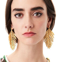Buy 2018 New Female Fashion Europe America Exaggerated Leaves Earrings Creative Metal Fashion Earrings Accessories for $1.48 in AliExpress store