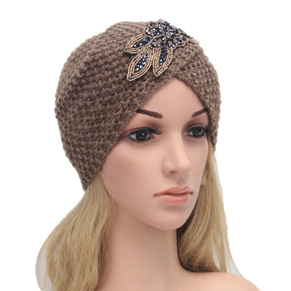 European Style Women Woolen Kintted Hats Beanies Winter Warm Caps Floral Printed Hat Vintage Chic Skullies &amp; BeaniesÎäåæäà è àêñåññóàðû<br><br><br>Aliexpress