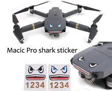 Mavic Pro drone parts battery body decal sticker shark sticker iPhone mobile phone funny cute DIY accessories
