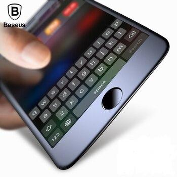 Baseus premium screen protector de cristal templado para iphone 7 3d helado suave protección completa cubierta de cristal de cine para iphone 7 Plus