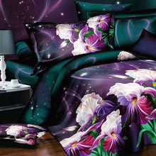 Free shipping! Flower 3d bedding set,4pcs Duvet cover set,bedclothes bed in a bag,Include:bed sheet,duvet cover pillowcase(China)