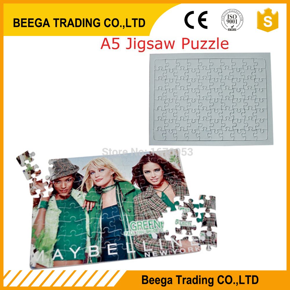 Free Shipping Sublimation Jigsaw puzzle,Sublimation Blank,Transfer,Puzzle,Sublimation A5 Puzzle(China)